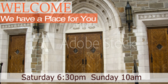 Welcome Church Personalized Sign