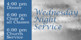 Welcome Church Wednesday Night Service