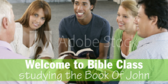 Welcome Church Bible Class Sign