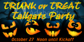 Trunk or Treat Tailgate Sign