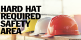 Stop Hard Hat Safety Area Sign