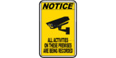 Activities Being Recorded Surveillance Sign Notice