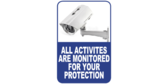 Monitored For Your Protection Surveillance Signs