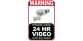 24 Hour Video Surveillance Warning Signs