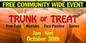 Trunk or Treat Community Sign