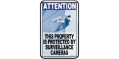 Attention Property Protected By Video Camera Signs