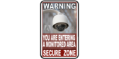 You Are Entering A Monitored Area Security Surveillance Signs
