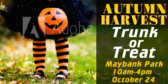 Trunk or Treat Autumn Harvest Sign
