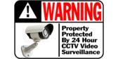 24 Hour CCTV Video Protection Warning Sign