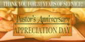 Pastor Anniversary Appreciation
