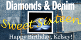 Sweet Diamonds and Denim Sixteen Birthday