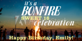 Bonfire 16th Birthday Bash