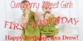 First Berry Sweet Birthday