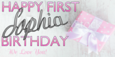 Chic Baby Girl 1 Birthday
