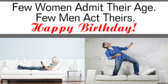 Women Do Not Admit Age Funny Quote