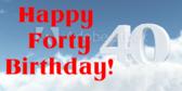 Happy Forty Birthday