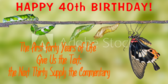 Forty Years of Life Birthday Quote