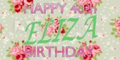 40 Chic Lady Birthday