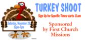 Turkey Shoot Church Mission Event Announcement