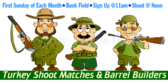 Turkey Shoot Barrel Banner