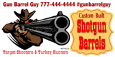 Turkey Shoot Shotgun Barrel Banner