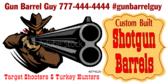 Turkey Shoot Shotgun Barrel Banner