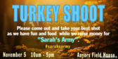 Best Shot Turkey Shoot Fundraiser Banner