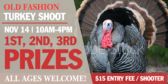Turkey Shoot Old Fashion Banner