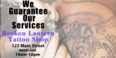 Tattoo Shop Guarantee