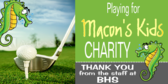Golf Tee Charity Sponsored Event