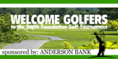Sponsored Golf Tee Welcome Golfers Sign