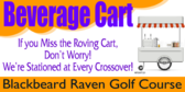 Golf Tee Beverage Cart Sign