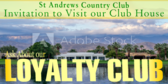 Golf Tee Loyalty Club Club House Sign