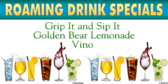 Golf Tee Drink Specials Sign
