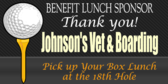 Golf Tee Benefit Lunch Sponsor
