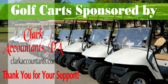 Golf Tee Sponsor Golf Cart Sign