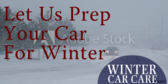 Oil Change Winter Car Care