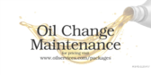 Oil Change Maintenance Package Service