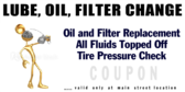 Coupon Oil Specials