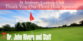Golf Tee Third Hole Sponsor