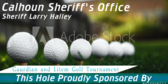 Golf Tee Seventh Hole Sponsor