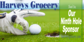 Golf Tee Ninth Hole Sponsor