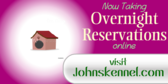 Kennel Overnight Reservations