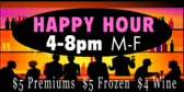 Happy Hour Accepts Cash