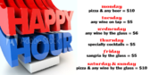 Beverage Happy Hour Specials