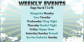 Happy Hour Weekly Events