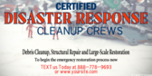 Certified Disaster Restoration Cleanup Crews