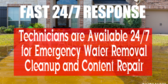 Water Damage Emergency Response