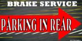 Brake Service Parking Lot