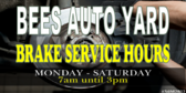 Brake Service Opening Hours